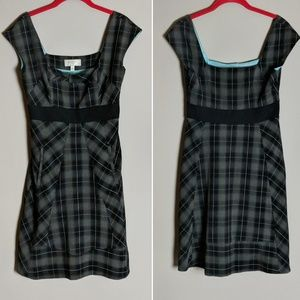 Anthro Moulinette Soeurs Black Gray Plaid Dress 2